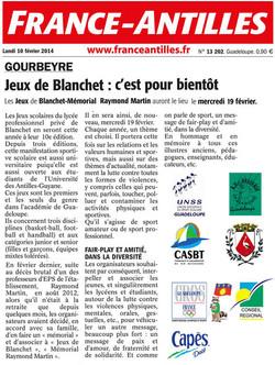 ARTICLE FRANCE ANTILLES