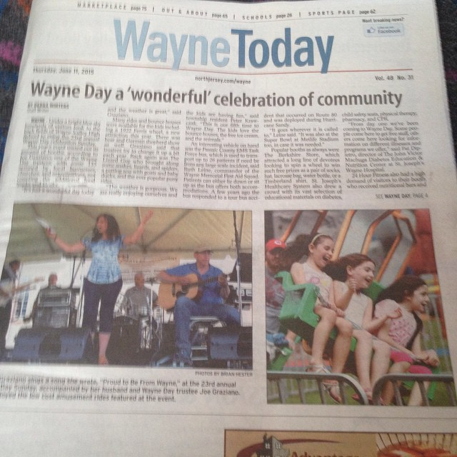 #WeHereLive #photos #cover #waynetoday  #wayneday #njmg Also see page 4 Todays edition of Wayne Toda