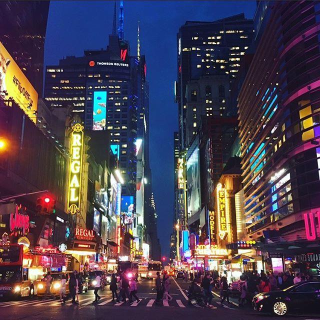 Bright Lights Big City Times Square