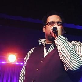 Michael Wonder Mike Wright of Sugar Hill Gang performs last night at B. B. Kings nightclub in Times Square