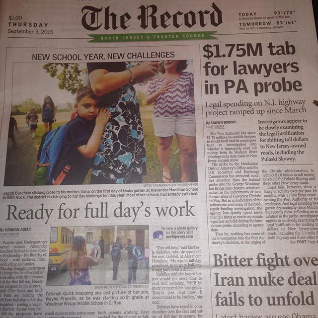 #weherelive So PUMPED Always a Great Day when my photo makes the #cover #A1 #major #us #daily #newsp