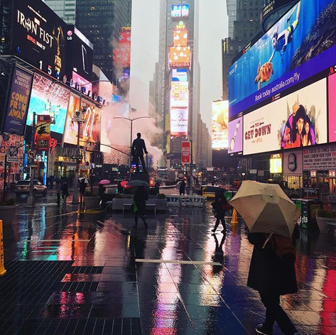 #love #timessquare in the #rain #reflect