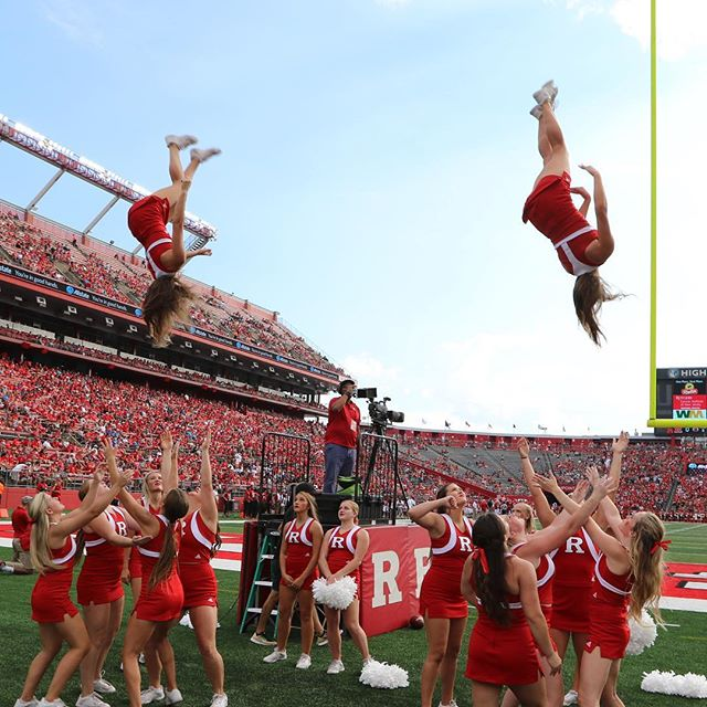 #rutgers #rutgersfootball #touchdown #cheer _rutgers_cheer had a lot to #celebrate yesterday #rutger
