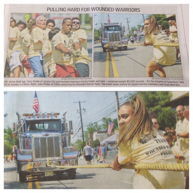 #WeHereLive Happy to see my #tankpull photo from #clifton #nj yesterday in this mornings #record #ik