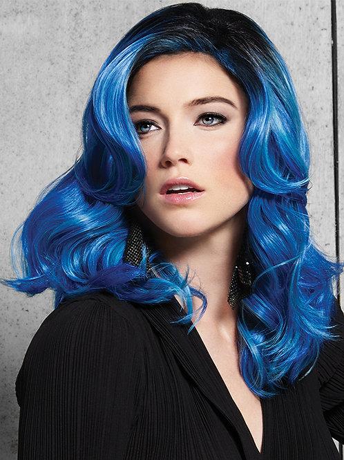 Blue waves wig