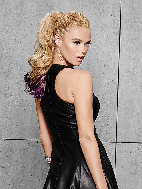23 inch color splash ponytail
