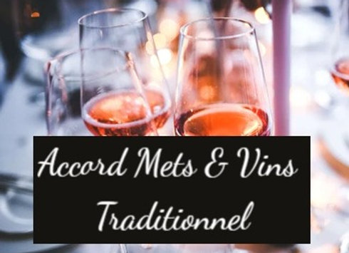 L'accord Mets & Vins traditionnel pour 2 personnes