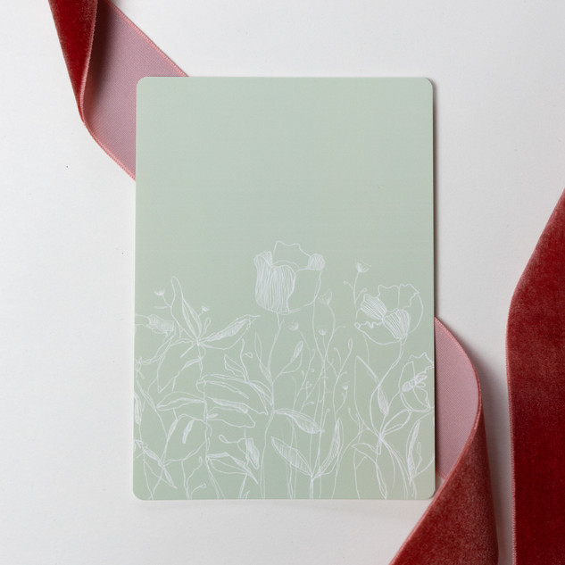 mint white floral ca