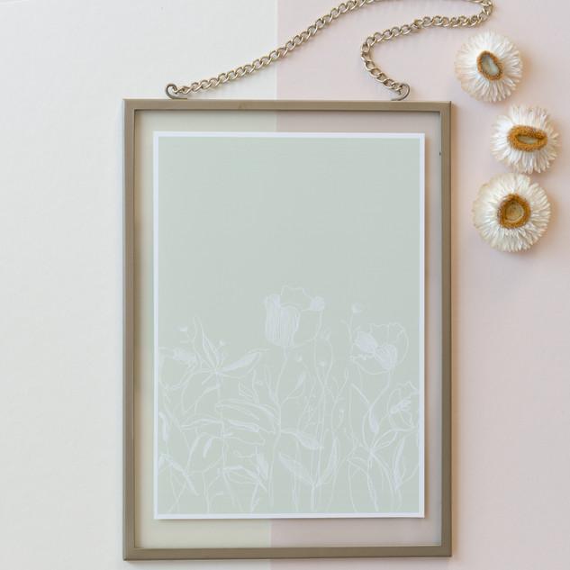 A5 print framed