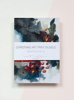 Lovable   Christmas Art Print Bundle   A6