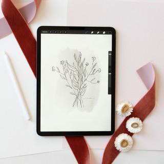 illustration on iPad