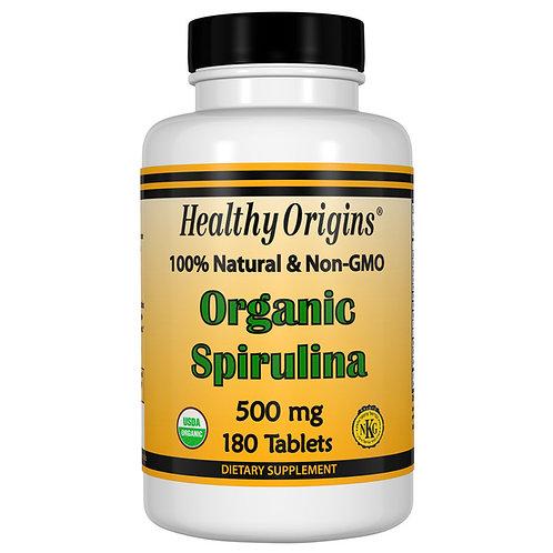 Alga spirulina biologica 500mg 180 tavolette - Healty Origins