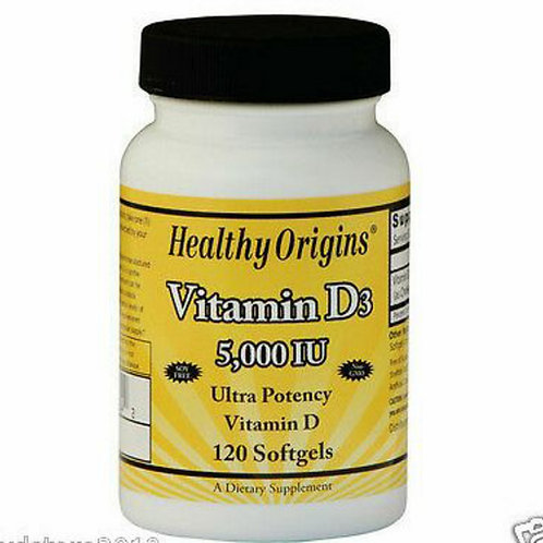 Vitamina D3 5000ui 120 softgel - Healty origins