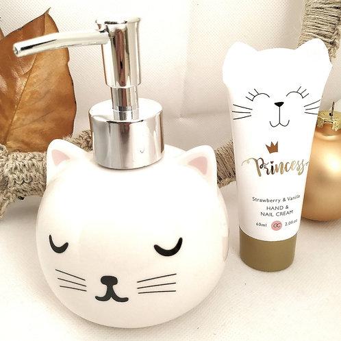 Dispenser sapone fatto + crema mani