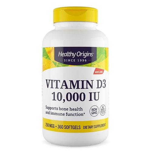 Vitamina D3 10000ui 360 softgel - Healty Origins
