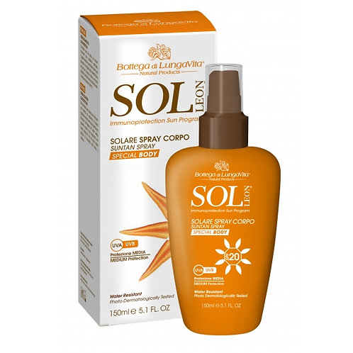 Spray solare spf 20 Sol Leon - Bottega di lungavita