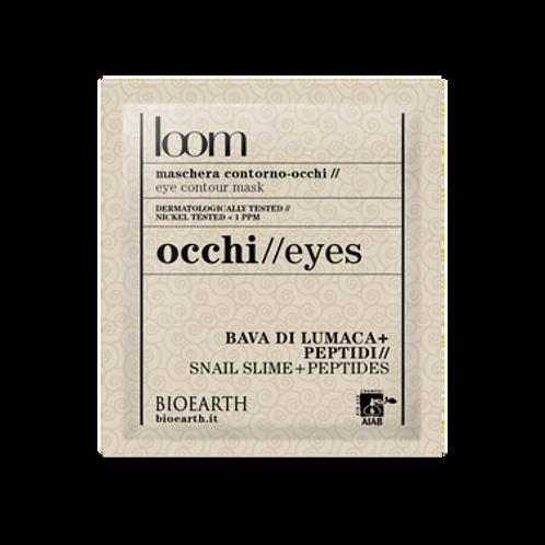 Maschera contorno-occhi Bava di lumaca + peptidi  Loom Bioearth