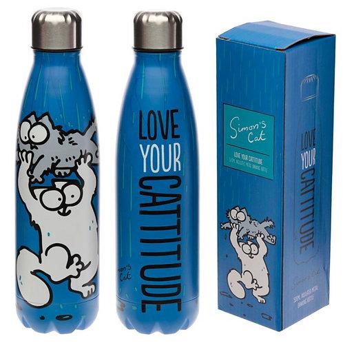 Bottiglia Termica Acciaio 500ml - Simon's Cat - Blu