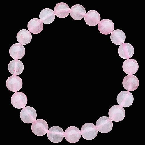 Bracciale Quarzo rosa perle 8mm