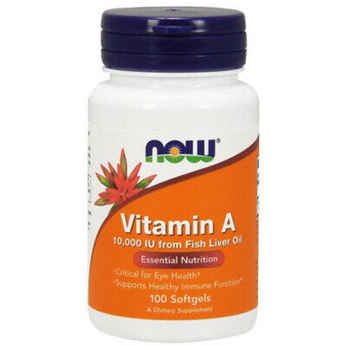 Vitamina A 10000 - 100 softgel NOW