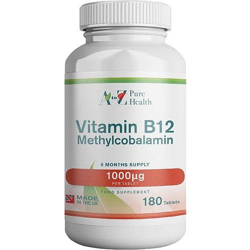 Vitamina B-12, 1000mcg x 60 tavolette - A to Z