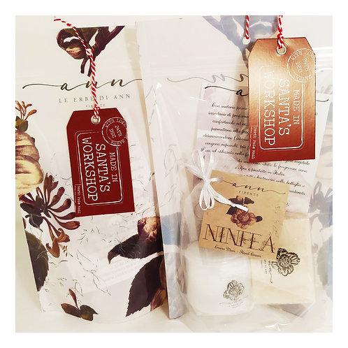 Busta Ann® crema mani e saponetta Ninfea