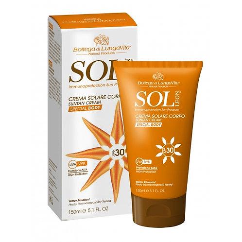 Crema solare corpo spf 30 Sol Leon - Bottega di lungavita