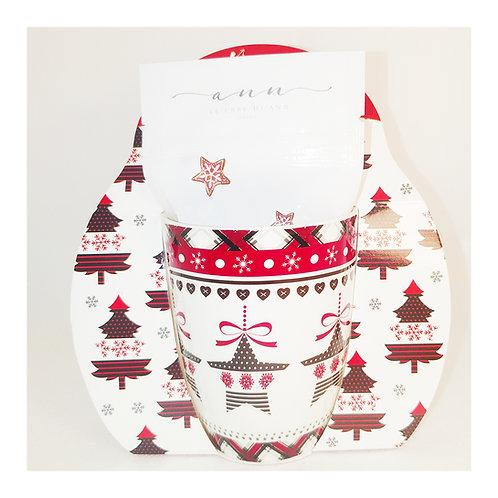 Tazza di Natale con sacchettino infuso ai frutti di bosco