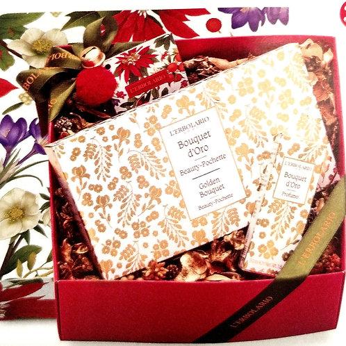 Pochette (bagno e crema 75ml) profumo 50ml  Bouquet d'Oro - Erbolario