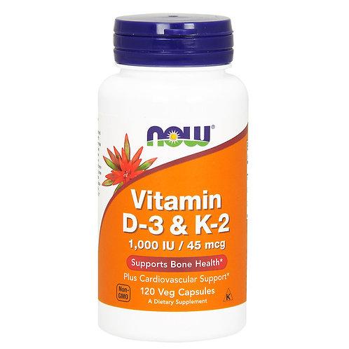 Vitamina D3 1000ui e K2 45mcg 120vegcaps