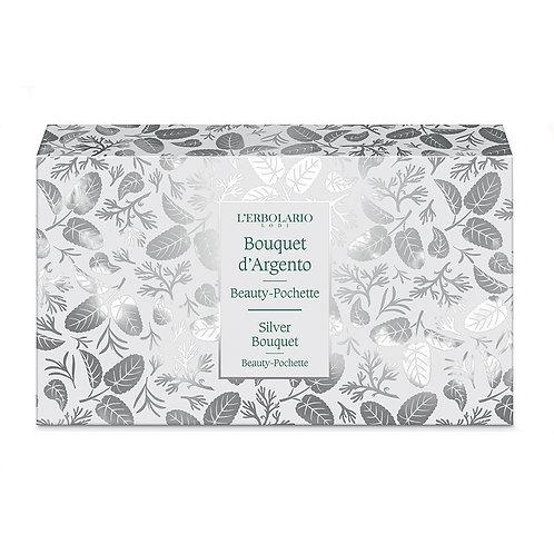 Pochette bagnoschiuma e crema corpo 75ml Bouquet argento - Erbolario