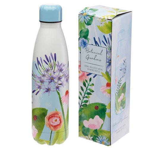 Bottiglia Termica Acciaio 500ml - fiori