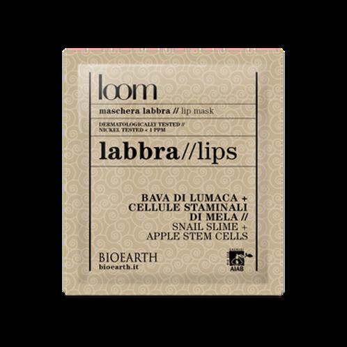 Maschera labbra Bava di lumaca + cellule staminali di mela  Loom Bioearth 30m