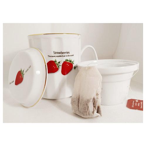Tisaniera strawberries in scatola