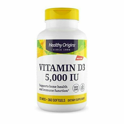 Vitamina D3 5000ui 360 softgel - Healty Origins