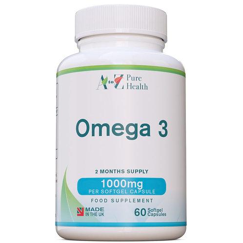 Omega 3 da olio di pesce 1000mg 60 softgel (due mesi)