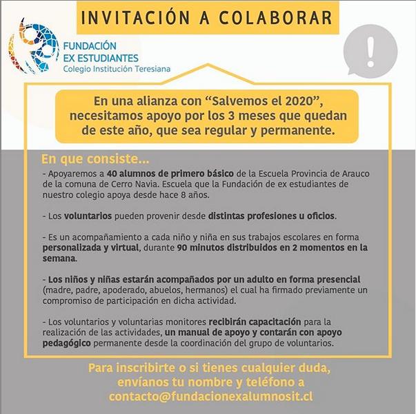 INVITACIÓN A COLABORAR