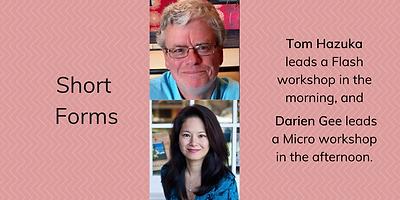 Tom Hazuka and Darien Gee writers confer