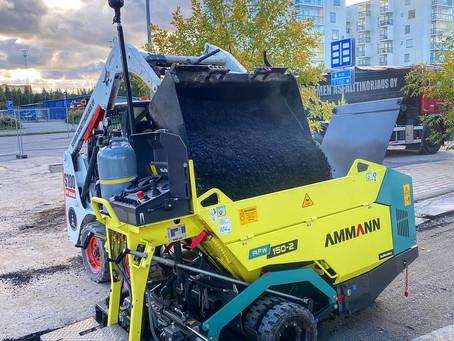 Uutta kalustoa, Ammann AFW 150-2 ja  Bobcat S100!