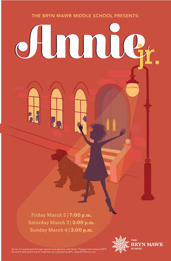 Poster design for The Bryn Mawr School's production of Annie. AD: Marissa Lanterman.