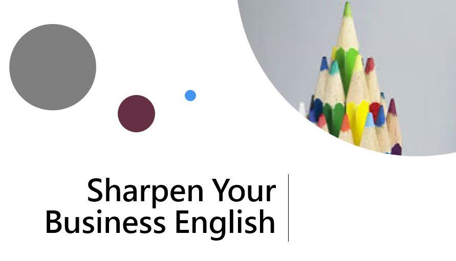 עפרונות מחודדים - חדד מיומנויות אנגלית עסקית