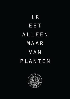 Alleen van planten