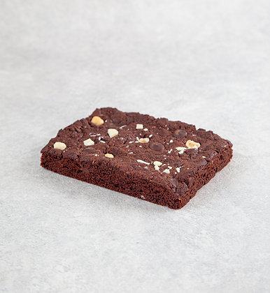 Triple chocolate hazelnut cookie