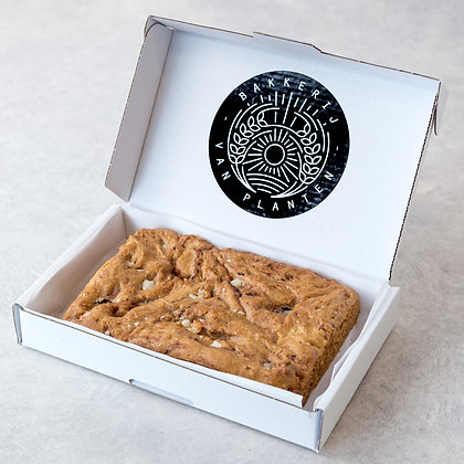 Framboos & witte chocolade cookie