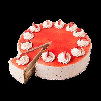 vegan aardbei bosvruchten cake taart.png