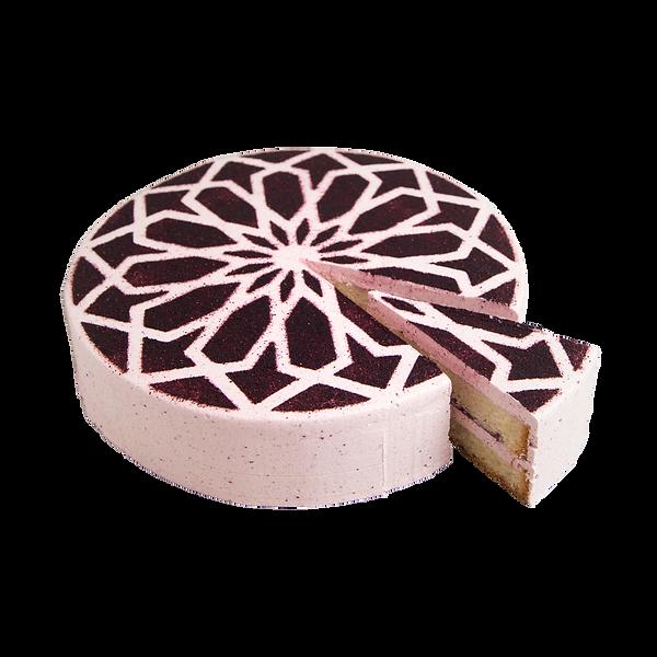 vegan citroen blueberry cake taart_edite