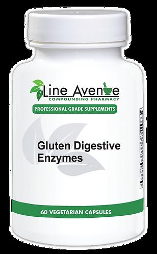 Gluten Digestive Enzymes white plastic bottle image