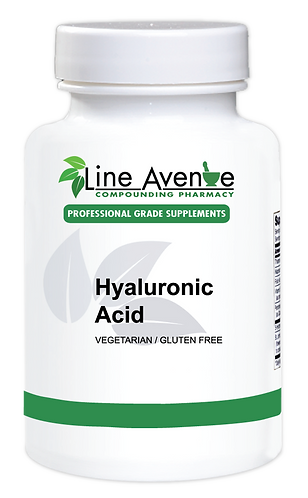 Hyaluronic Acid white plastic bottle image