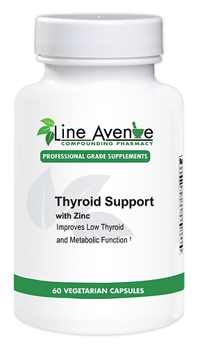 Thyroid Support with Zinc Supplement - white plastic bottle image