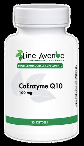 CoEnzymeQ10 - 100 mg white plastic bottle image